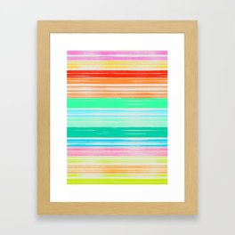 Waves_Multicolor2 Framed Art Print