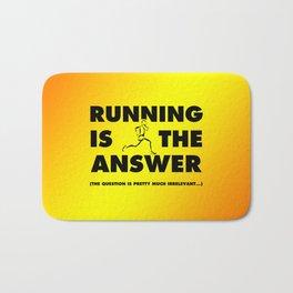 Running Is The Answer Bath Mat
