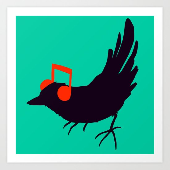 Listening to my Song Art Print