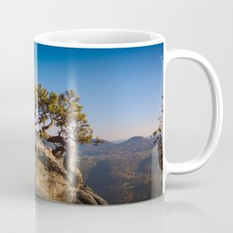 Crooked Tree in Elbe Sandstone Mountains Coffee Mug