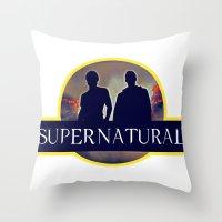 supernatural Throw Pillows featuring Supernatural  by amirshazrin