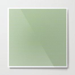 U14: algae chevron Metal Print