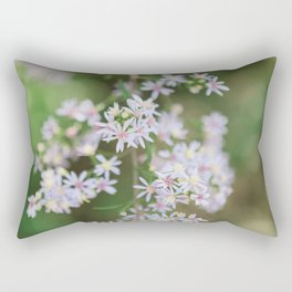 Dainty Florals - Purple Asters Photography Rectangular Pillow