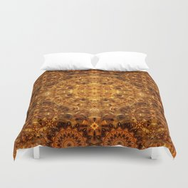Golden Weave Mandala Duvet Cover