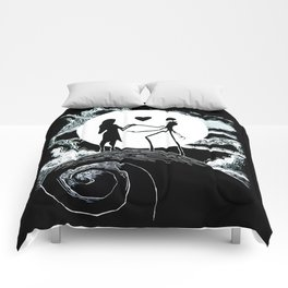 Jack and sally Nightmare Comforters