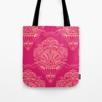 damask Tote Bags featuring Damask by cactus studio