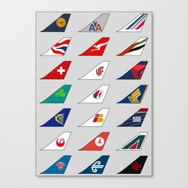 Tail FIns Collection large Canvas Print