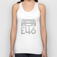 bmw Tank Tops featuring BMW E46 M3 - silver - by Vehicle