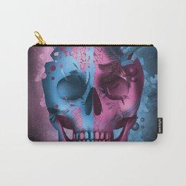 skull black art decor Carry-All Pouch