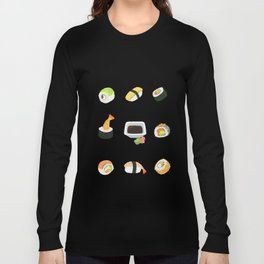 Sushi Pattern Long Sleeve T-shirt