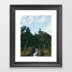 Waterfall To Sea Framed Art Print