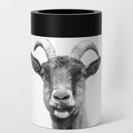 Black and White Goat Can Cooler
