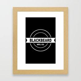 Original BlackBeard Logo White Framed Art Print