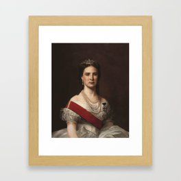 Santiago Rebull - Emperatriz Carlota (1867) Framed Art Print