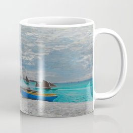 Claude Monet - The Beach at Sainte-Adresse Impressionist Landscape Oil Painting Coffee Mug