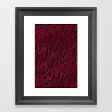 Stripes - Red Framed Art Print