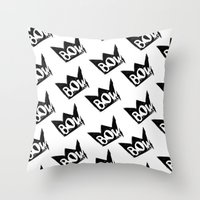 bow Throw Pillows featuring Bow by Matt Smiroldo