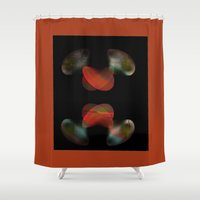 rabbits Shower Curtains featuring DANCING RABBITS by  ECOLARTE