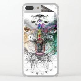 Zodiac Strings 2 Clear iPhone Case