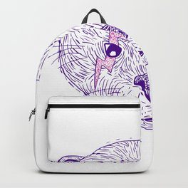 Otter Head Lightning Bolt Drawing Backpack