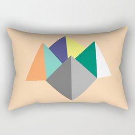 Paku Paku, original colours on peach Rectangular Pillow
