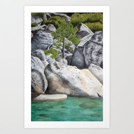 Tree in the Boulders Art Print