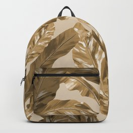 Tropical Leaves - Pink Gold Backpack