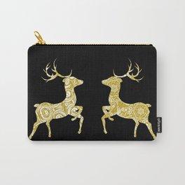 Golden Ornamental Deer Carry-All Pouch