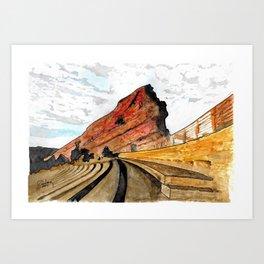 Red Rocks 2016 Art Print