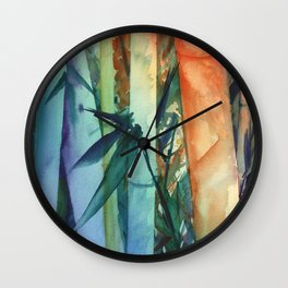 Kauai Rainbow Bamboo 2 Wall Clock