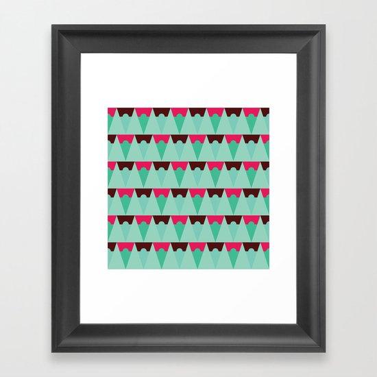 Chocolate Trees Framed Art Print