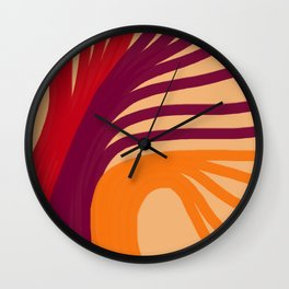 Triplets - Light Peach Wall Clock