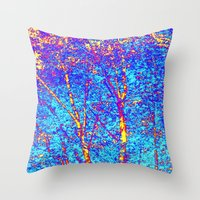 birch Throw Pillows featuring Birch by Tru Images Photo Art
