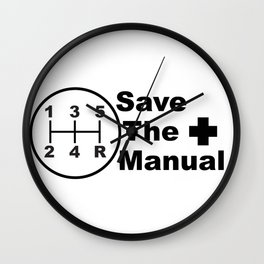 Save The Manual Decal Wall Clock