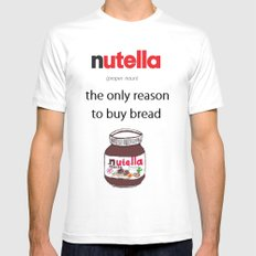Nutella -only reason Mens Fitted Tee White MEDIUM