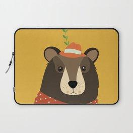 Brown Bear Print, Laptop Sleeve