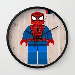 spiderman,LegoSuperhero LegoSpiderman styled Mini Figure Wall Clock