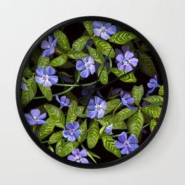 Periwinkle Days Pattern | Black Wall Clock