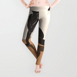 Minimal Abstract Art Nude Woman 3 Leggings