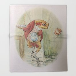 Jeremy Fisher by Beatrix Potter Throw Blanket