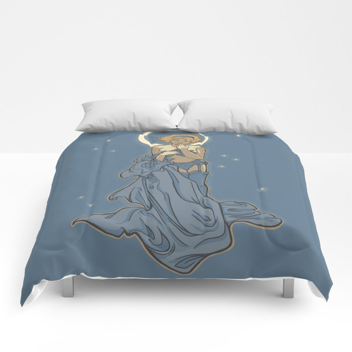 Mucha Pin Up Girl Comforters