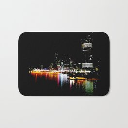 Brisbane River Print Bath Mat