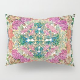 Mr Lincoln - Rose, Passion Flower and Butterfly Mandala Pillow Sham