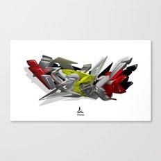 3D GRAFFITI - HIP-HOP Canvas Print