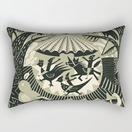 Merry-go-round fun Rectangular Pillow