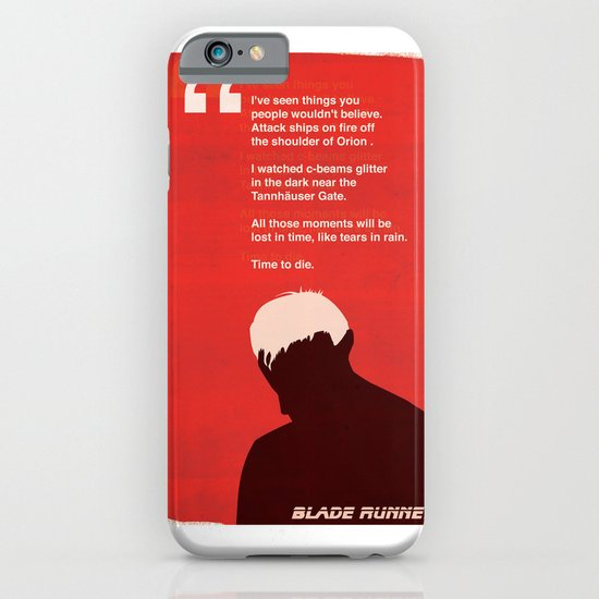 BLADE RUNNER TEARS IN RAIN iPhone & iPod Case