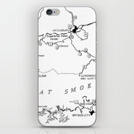 Map of The Great Smoky Mountains National Park (1996) iPhone Skin