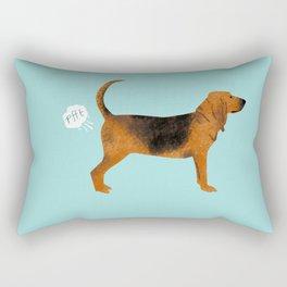 Bloodhound dog breed funny dog fart Rectangular Pillow