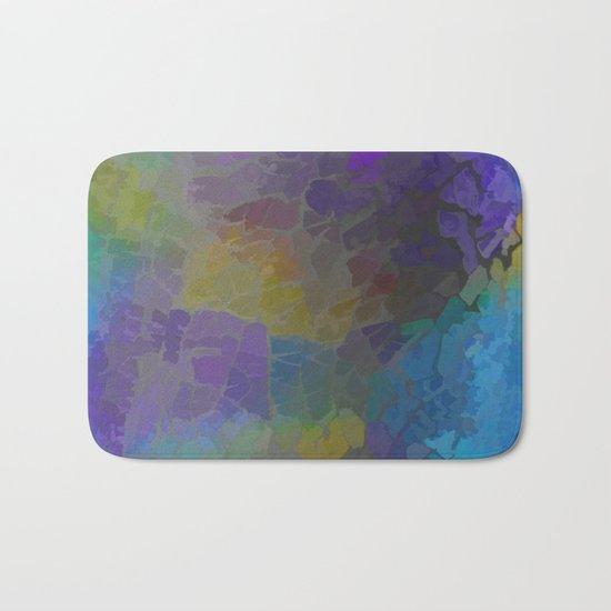 Rainbow Mosaic Abstract Bath Mat