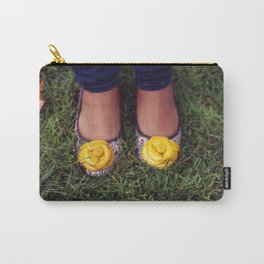 Yellow Flower Shoe! Carry-All Pouch
